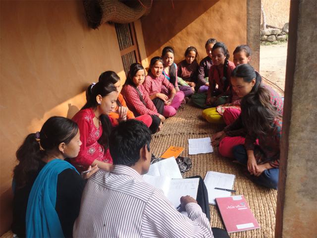 Adolescent girls group meeting at Baluwapati, Kavrepalanchok