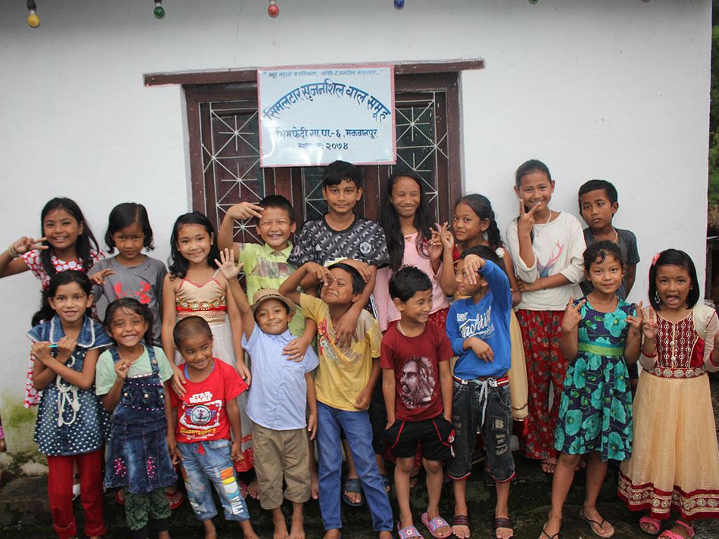 Child Group Meeting & Drawing Practice At Bhimphedi Makwanpur (1)