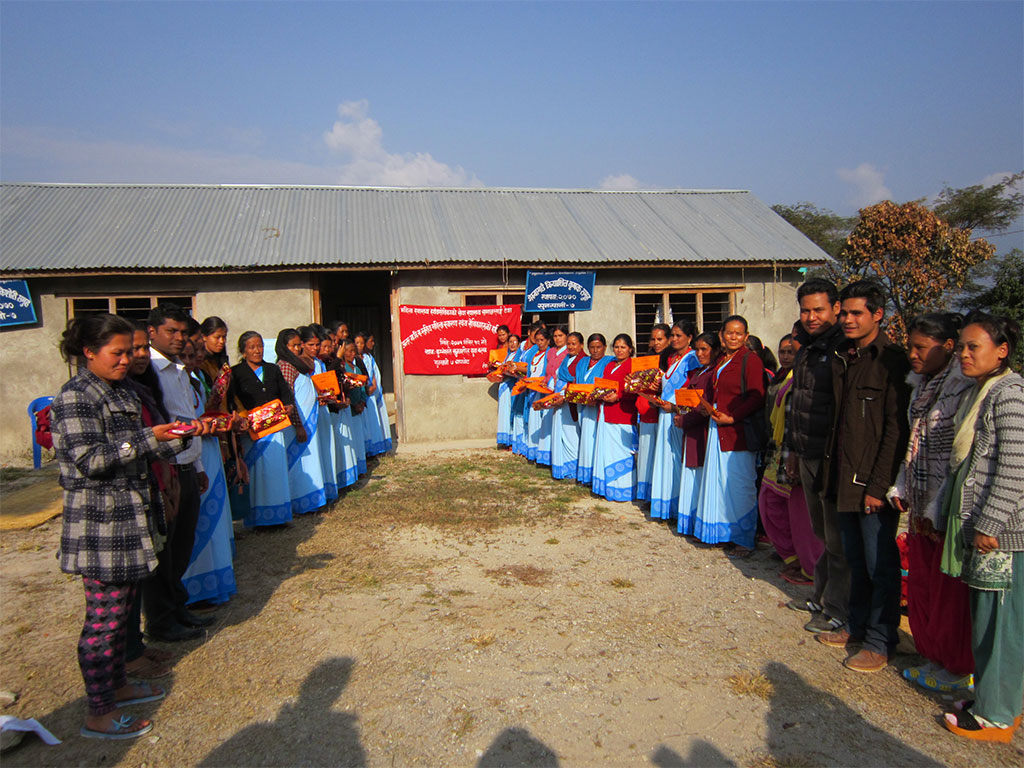 Prize Distrubition Program after quiz competition to Female Community Health Volunteers at Sunkhani, Nuwakot
